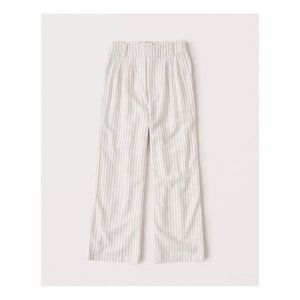Abercrombie Pants - Linen-Blend Pleated Taper Pant